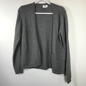 OLD NAVY • Gray Open Front Cardigan | L